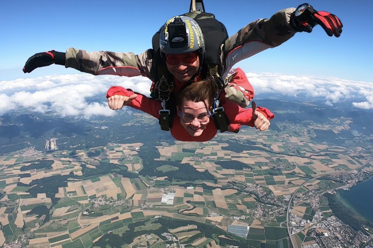 Le saut de l'ange à 4000mètres d'altitude