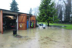 Le garage de Pierre-Alain Tharin avait été inondé, le 22 janvier dernier. ©Duvoisin-a