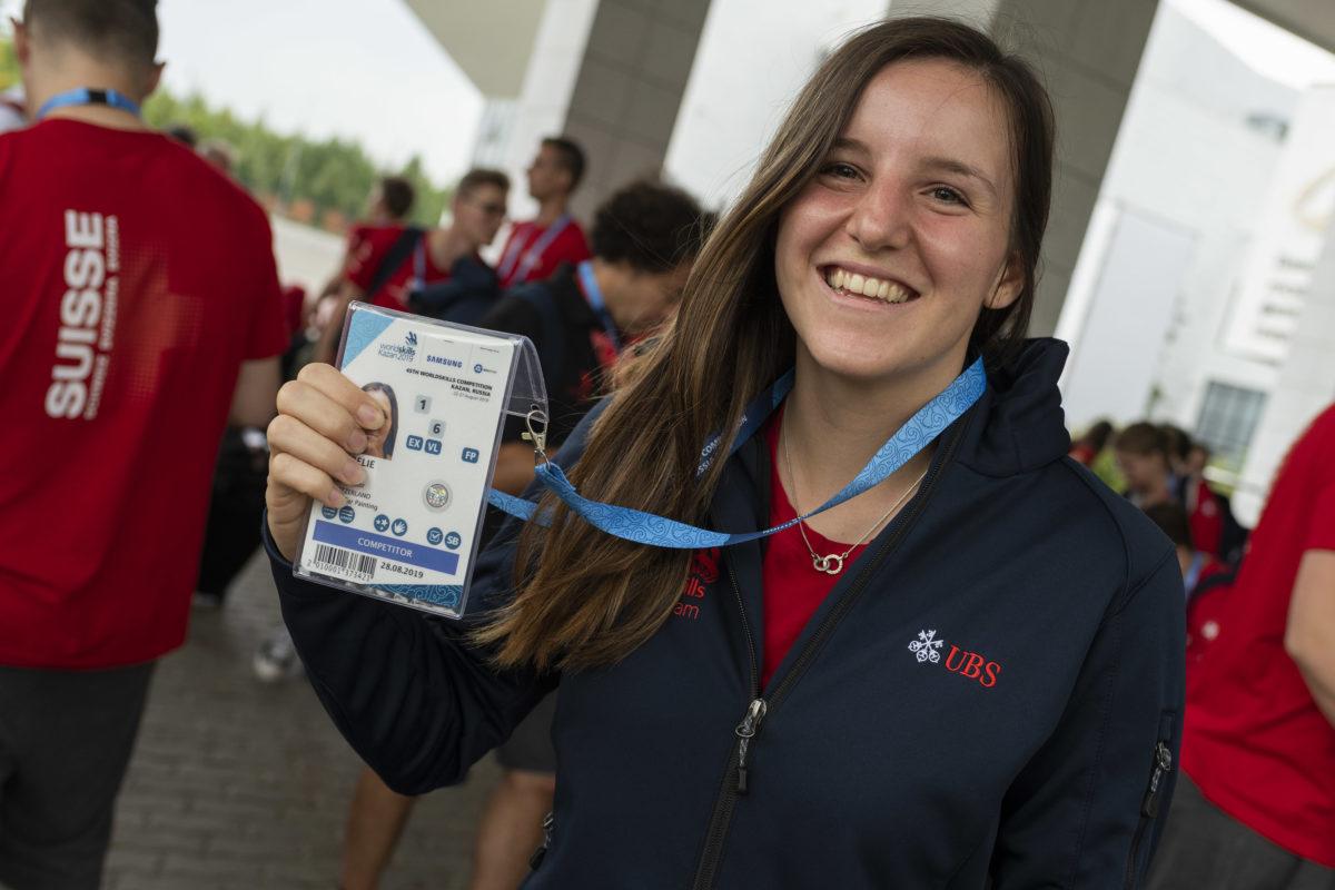 Aurélie Fawer pourrait revenir avec de l'or des WorldSkills