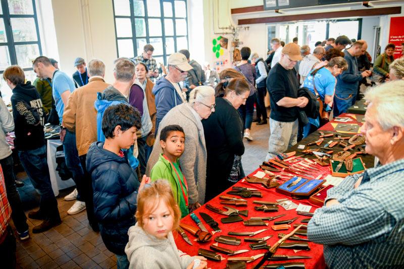 Plus de 2200 visiteurs ont fait le déplacement à Vallorbe, afin de découvrir les artisans et, pour la première fois, les fournisseurs de matériel de coutellerie.