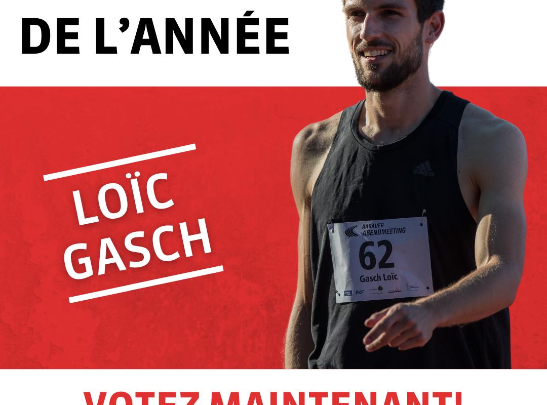 Loïc Gasch parmi les meilleurs athlètes de Suisse en 2020