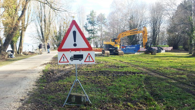 Les travaux ont débuté le 15 janvier dernier, mais ont dû être interrompu cinq jours après. Le chantier devrait reprendre ces prochains jours.