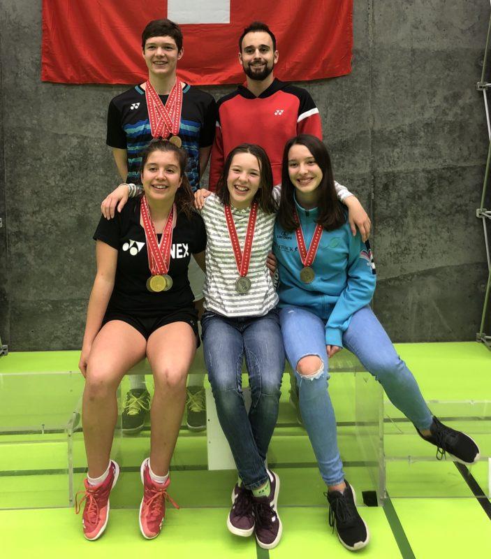 Les médaillés du BC Yverdon.