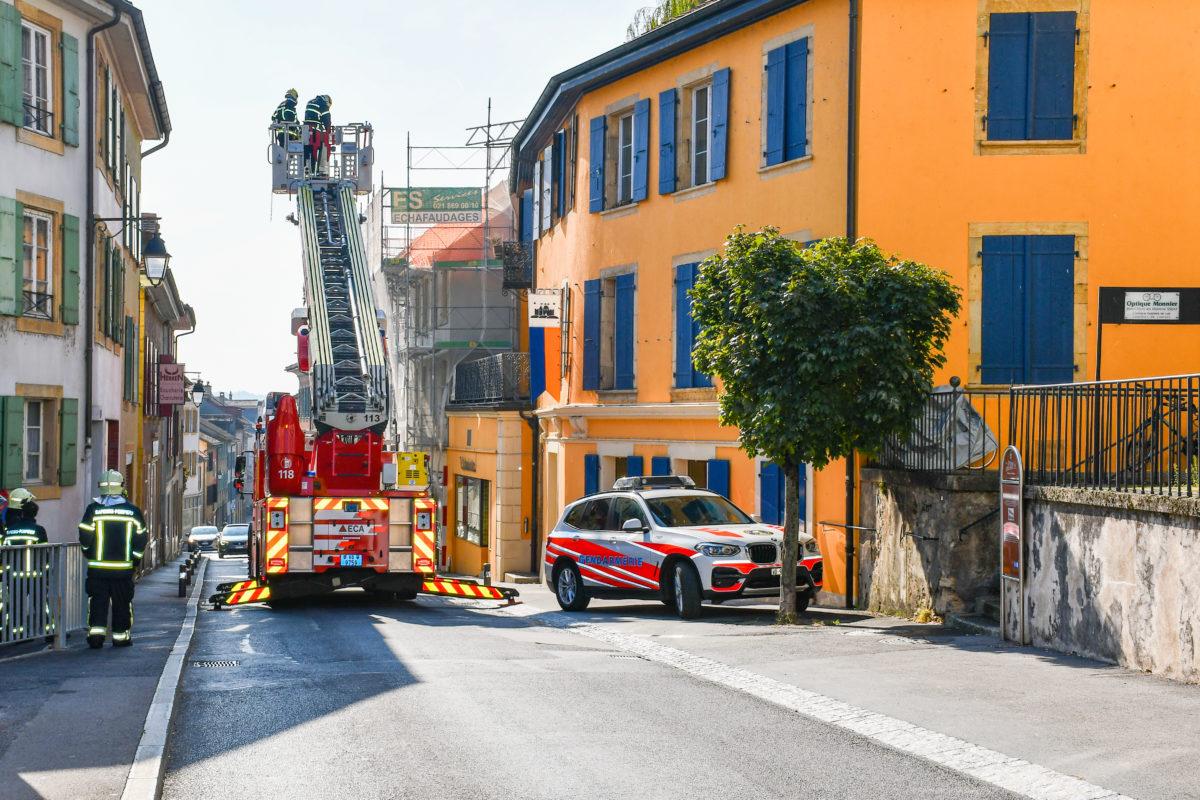 La rue Basse bloquée en raison d'un incendie