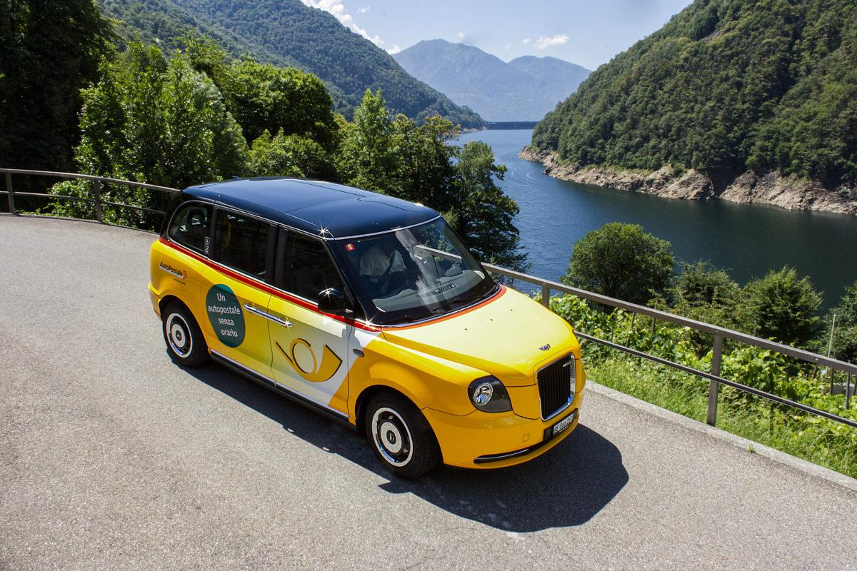 Le taxi électronique londonien de La Poste sera à Yverdon samedi après-midi