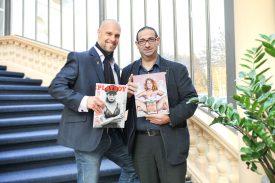 Philippe Roger (à dr.) a rejoint l'équipe de Playboy, codirigée par l'entrepreneur lausannois David Musetti (à g.), afin de véhiculer l'art de vivre de la marque américaine en Suisse et en France.