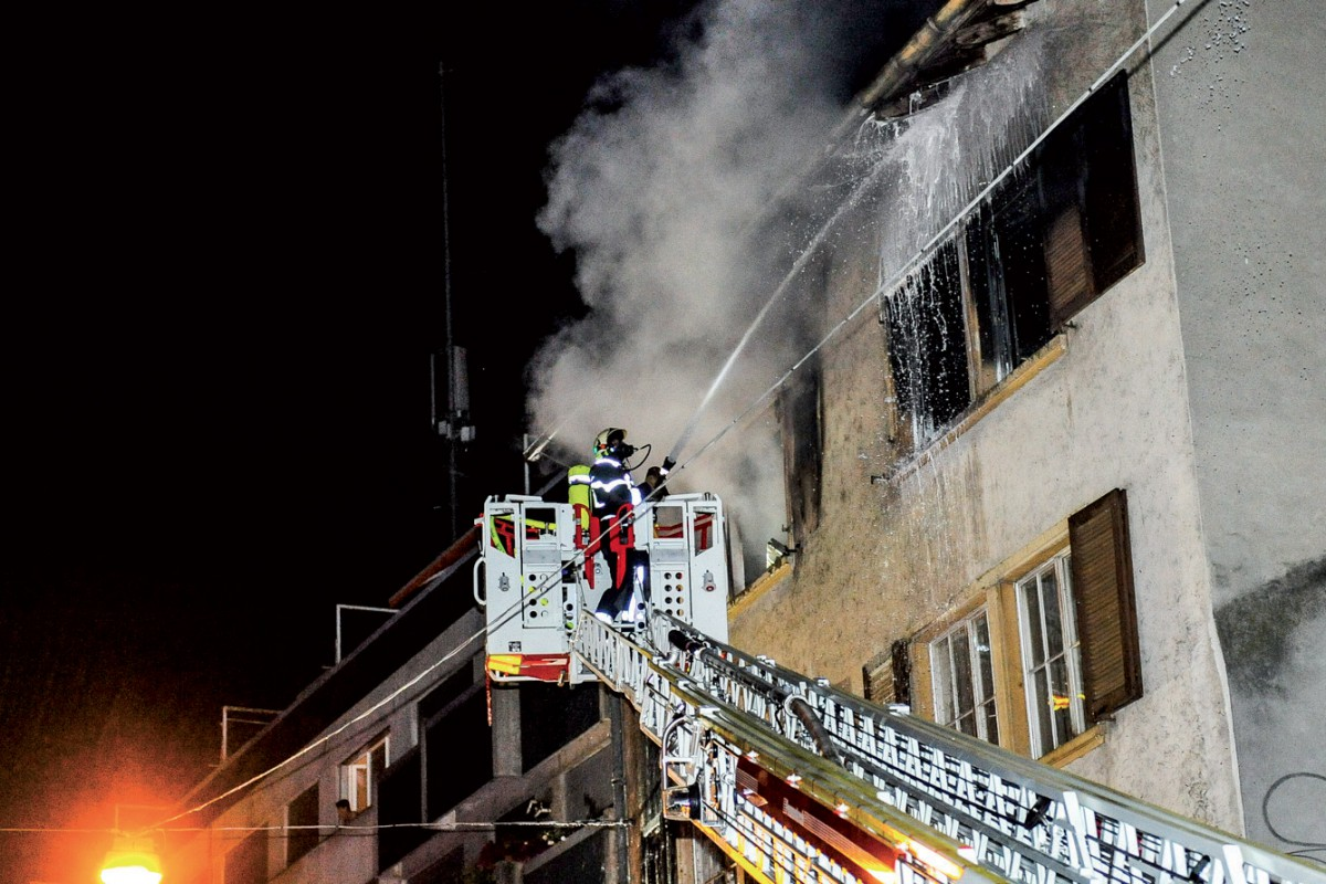 Locatif en feu en plein centre-ville