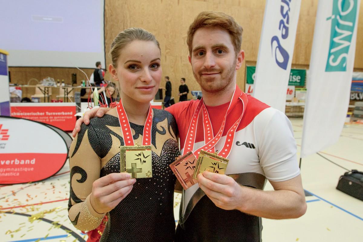 Sandy Jaccard et Justin Delay maîtres suisses du sol à Sion