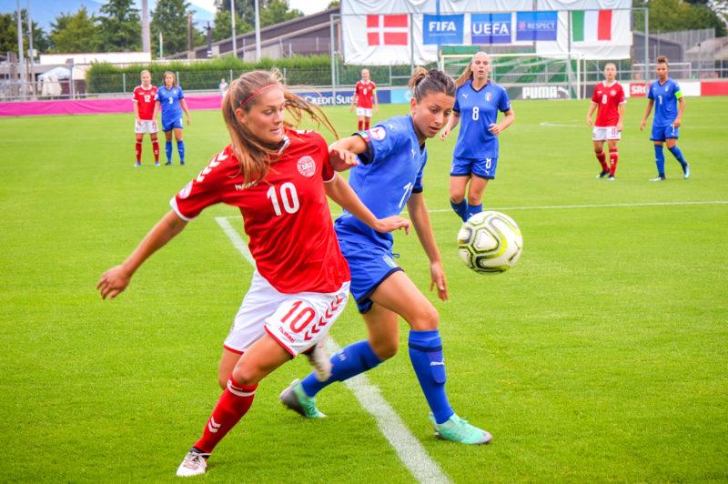 Le Danemark a fini par prendre le dessus sur l'Italie, au terme d'un match disputé. ©Carole Alkabes